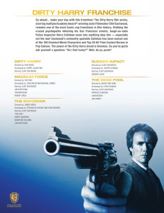 Dirty Harry Franchise Back