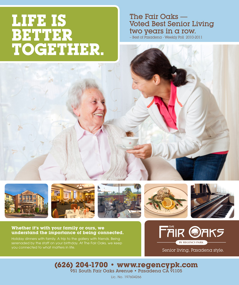 Life is Better Together - Client Swart Ad for Fair Oaks Pasadena