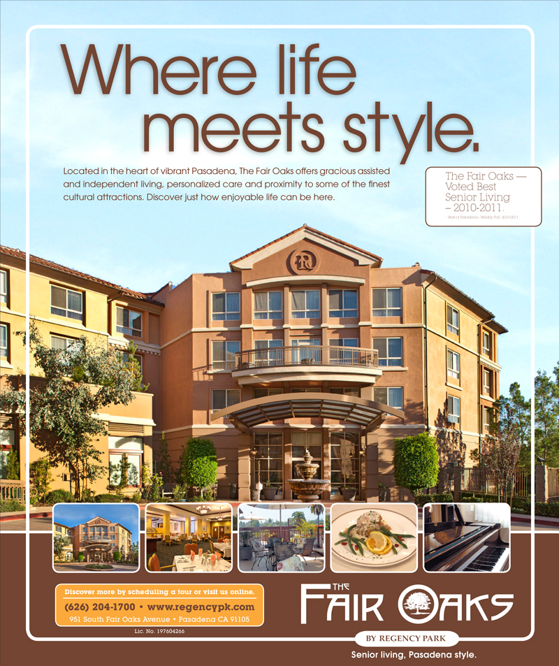 Where Life Meets Style - Client Swart Ad for Fair Oaks Pasadena