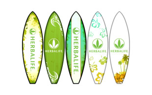 Herbalife Surfboard