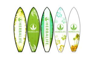 Herbalife Surfboard